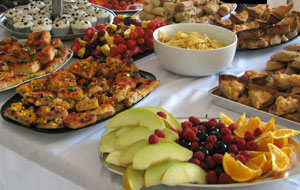 Picnic wedding buffet, vegan