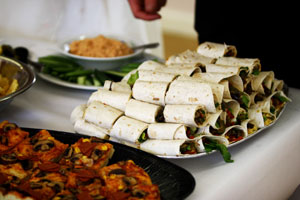 vegan buffet - wraps
