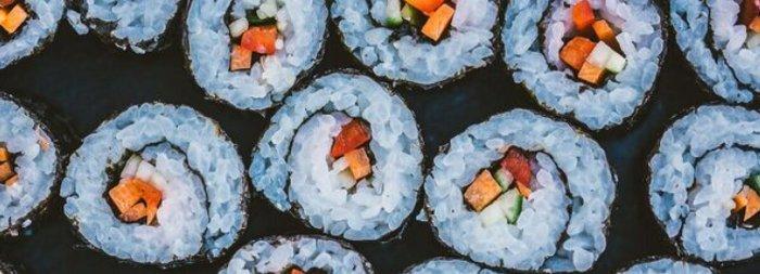 sushi, vegan