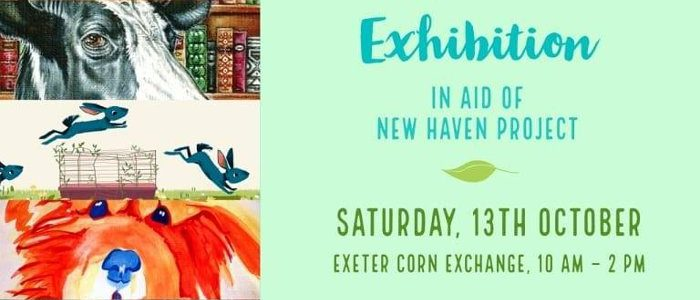 Art exhibition at Exeter Vegan Market, October 2018