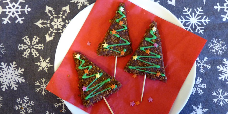 Choc Christmas Trees - vegan