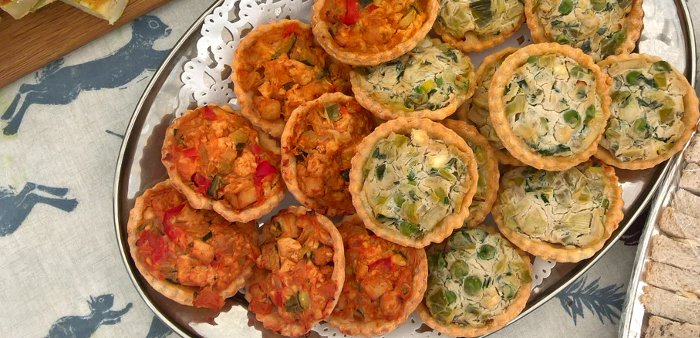 Buffet Mini Quiches, Vegan