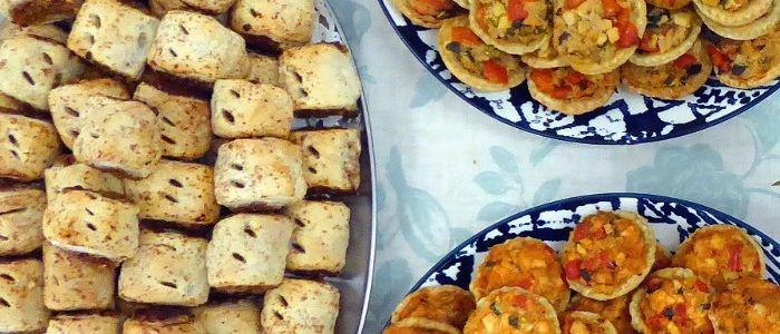Canapes Vegan Sausage Rolls Quiches