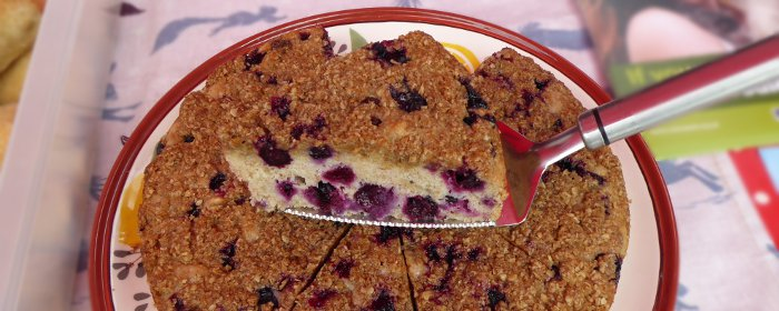 Blackberry and Lemon Buckle, Vegan