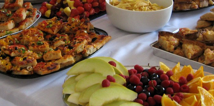 Buffet Savoury and Fruit Plate, Vegan