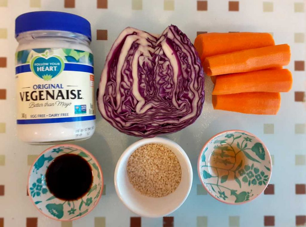 Sesame Coleslaw Ingredients | Fairfoods Vegan Catering