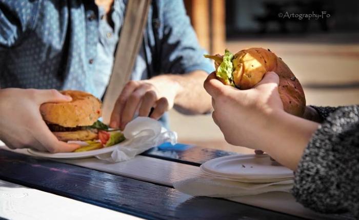 Eating Fairfoods Burgers | Fairfoods Vegan