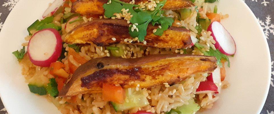 Gochujang Sweet Potato Salad | Fairfoods Vegan Catering